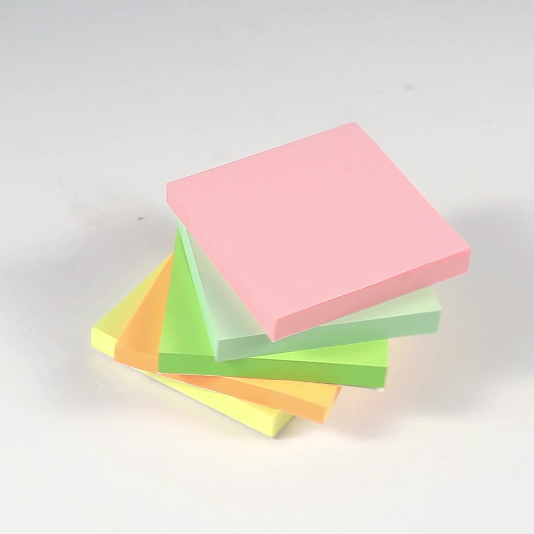 Multicolor Self-adhesive Tear Off Cube Notepads Shaped