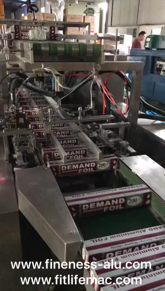 Full Automatic Aluminum Foil Boxing Machine for All Kinds of Box