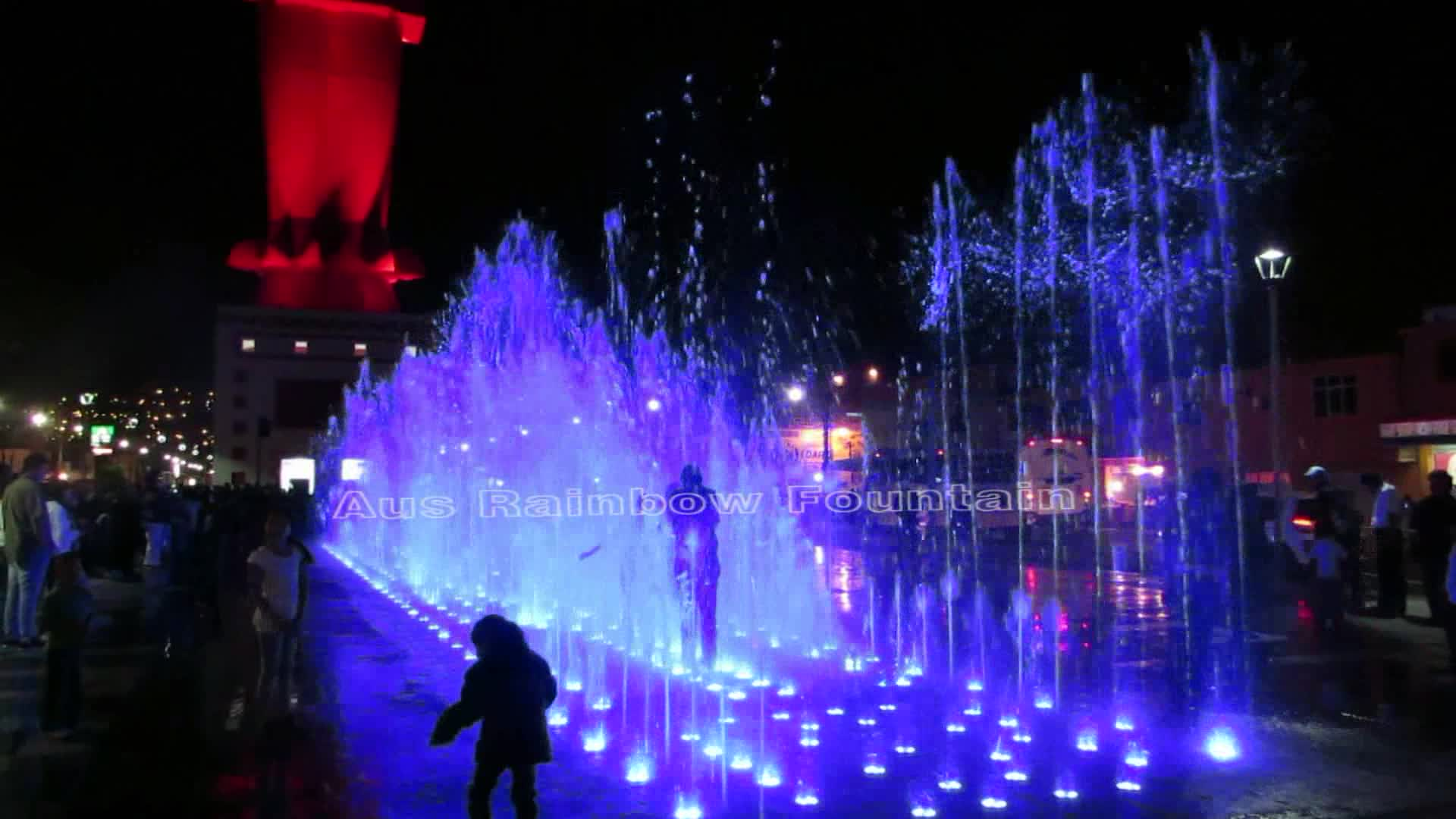 Musical Water Curtain Dancing Cascading Dry Deck Fountain Project Solution With Junction Box