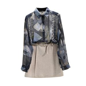 2021初秋新款复古设计感小众女衬衫