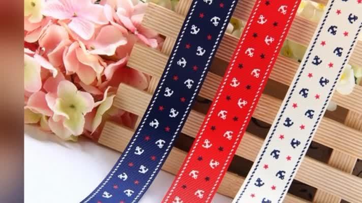 2018 Custom Printed Grosgrain Ribbon for Christmas decorations