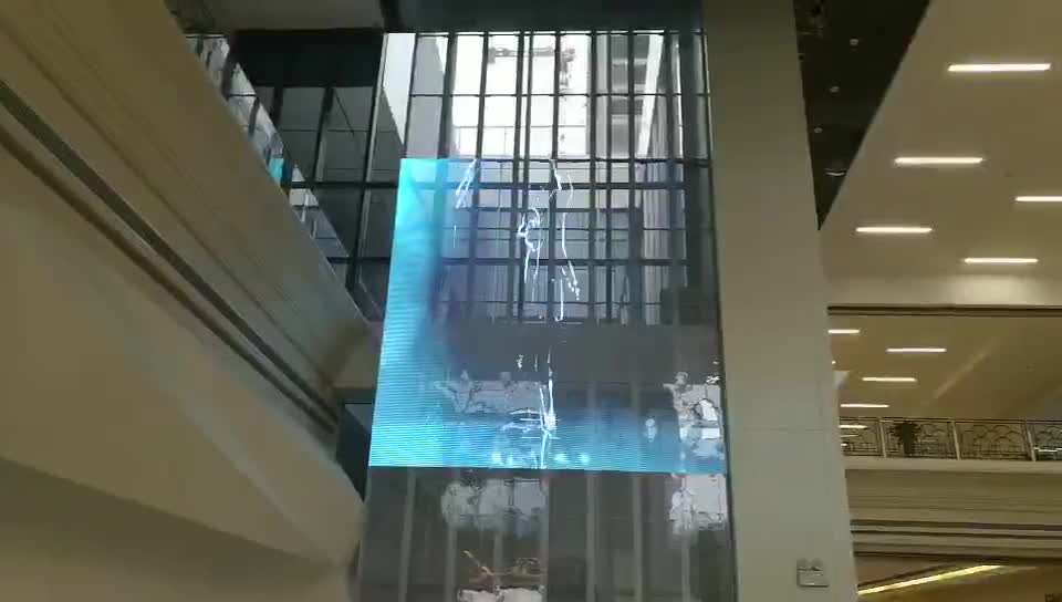 High Quality Transparent Led Display P10 On Glass Wall Led