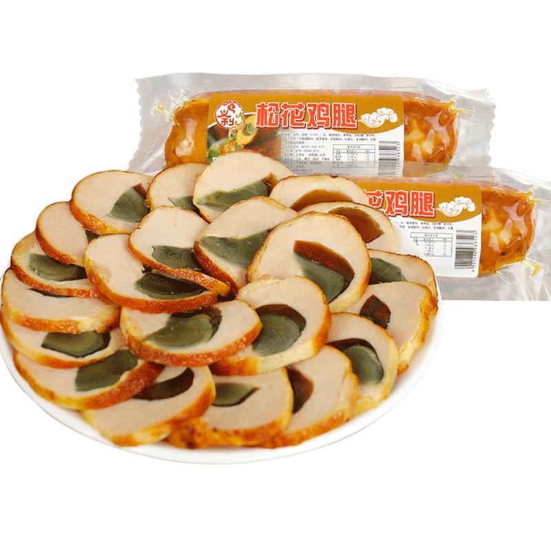 哈尔滨松花鸡腿肠皮蛋肠即食东北特产小吃美食熟食肉食零食下酒菜