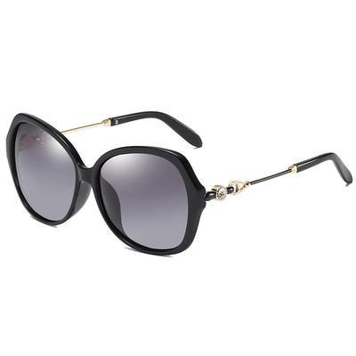 2021新款大框偏光太阳镜女时尚镶钻圆脸墨镜韩版潮人开车驾驶眼镜