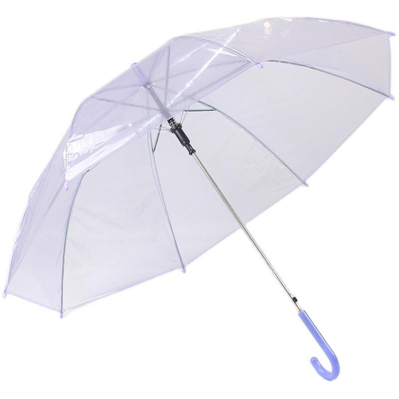 透明雨伞长柄网红男女小清新个性广告低价批量定制LOGO加厚礼品