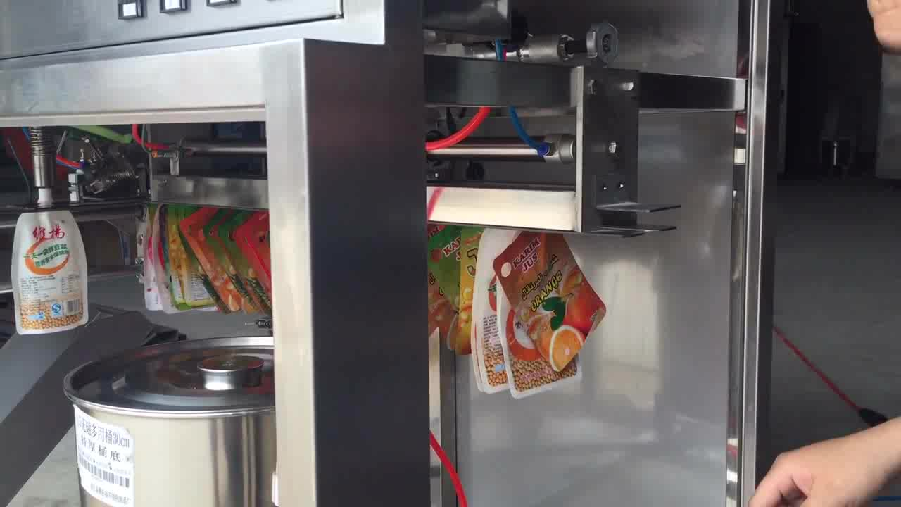 China Supplier Small Automatic Stand Up Pouch Capping Machine Litchi Juice Filling Machine