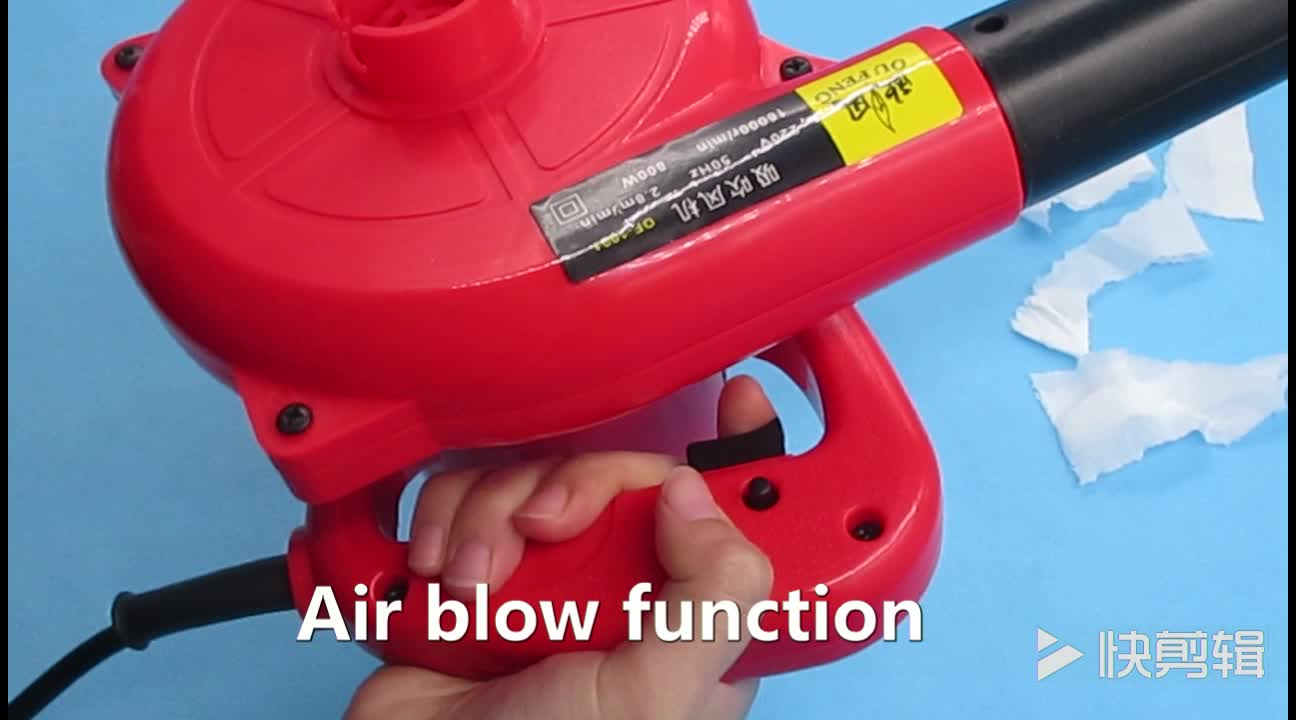 Small Electric Air Blower : Portable red v w eu power plug small electric air