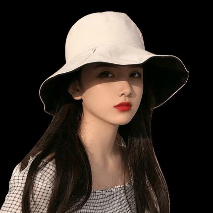 双面渔夫帽女日系大檐潮太阳帽子