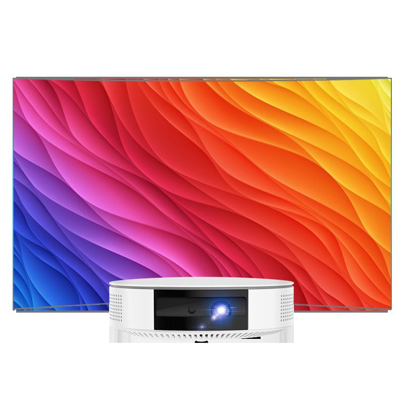 当贝 投影仪 D1 1080P高清解码 智能手机 便携 2019新款 投影仪家用无线WIFI微型投影机