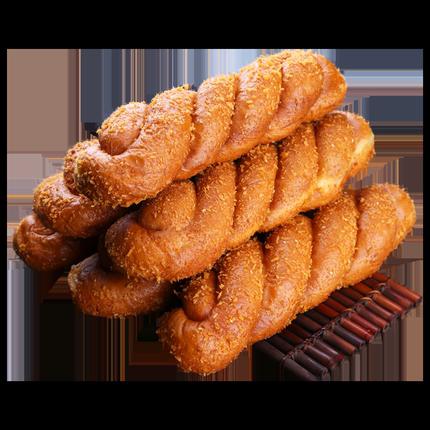 东北特产豆沙馅夹心手撕麻花甜面包