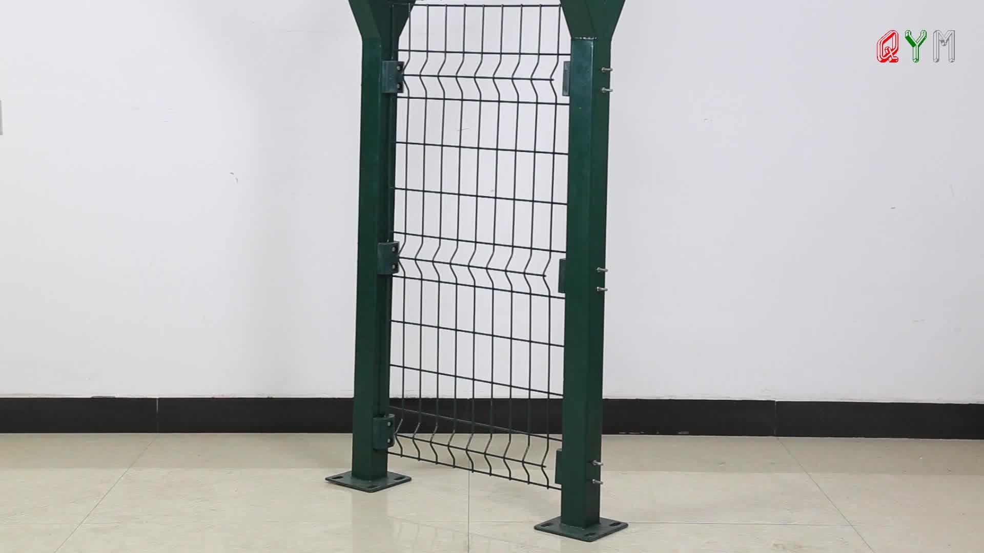 Curved Welded Wire Mesh Airport Fencing Y Post