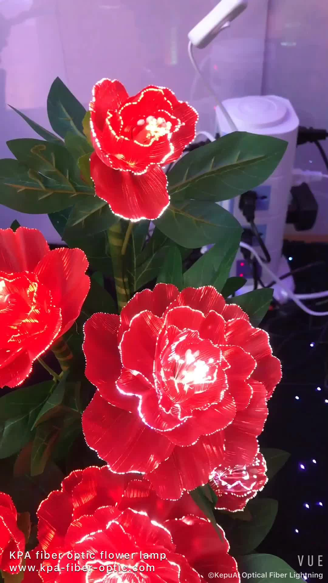 Wholesale Color Changing Handmade Decoration Fiber Optic Flowers ...
