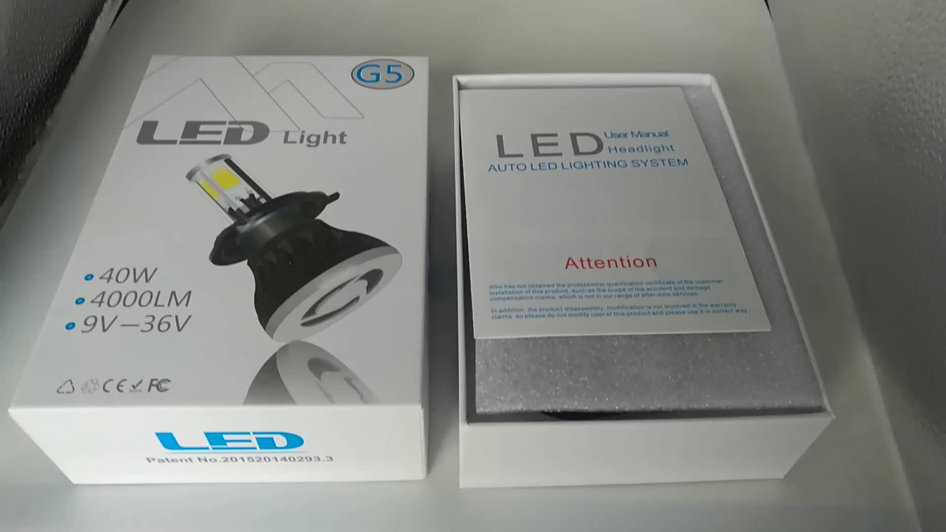 High Power G5 LED Headlight 80W 8000lm  Car LED 880 5202 H1 H7 H3 H11 Bulb LED COB Lamp Headlight