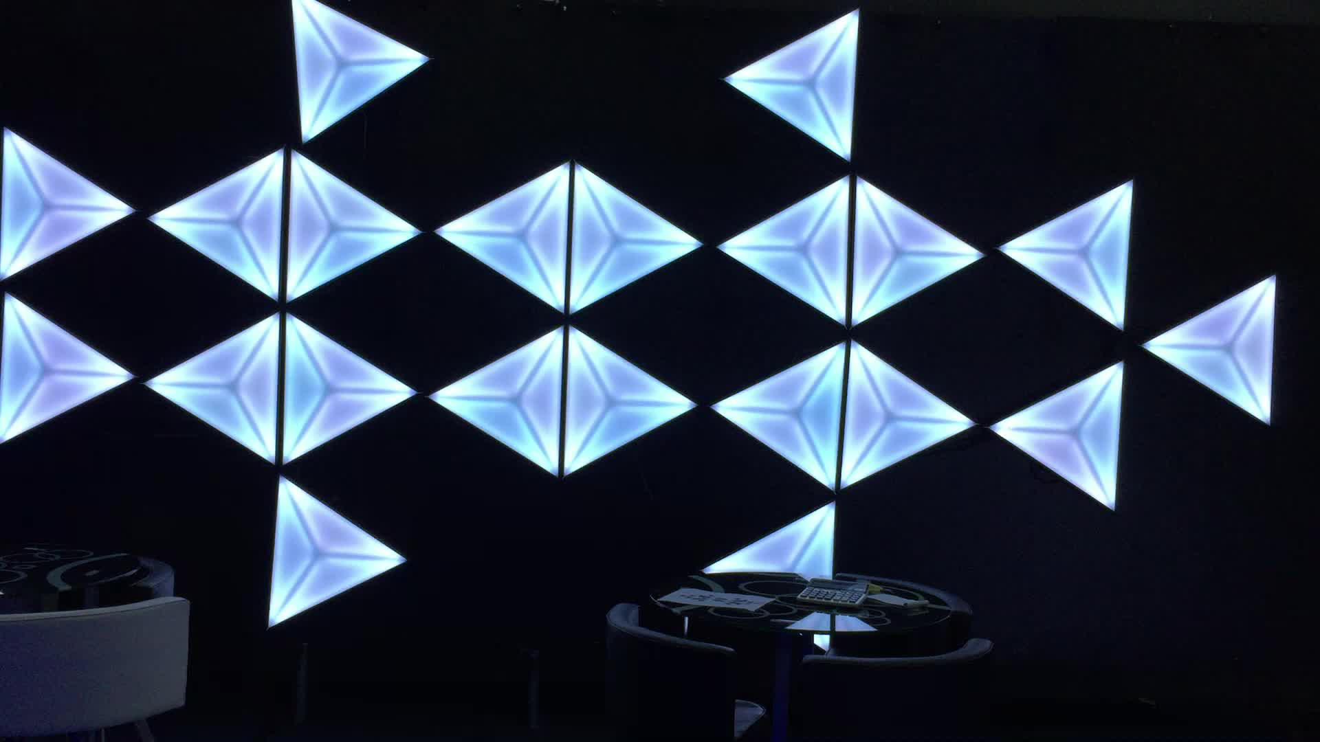 3d Stage Amazing Effect Triangle Background Wall