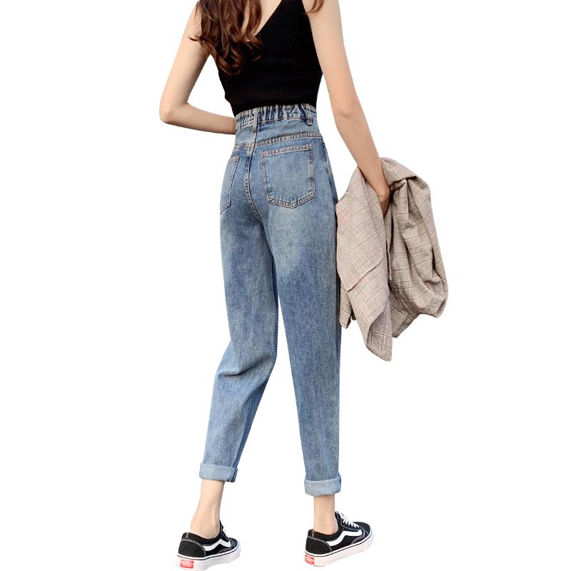 毛边牛仔裤女裤夏季薄款直筒高腰显瘦小个子八分破洞夏天九分裤子