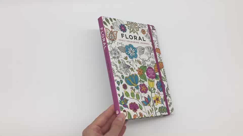 Aangepaste Art Papier Soft Cover Colouring Kleur Schilderen Boek Voor Kinderen Volwassenen