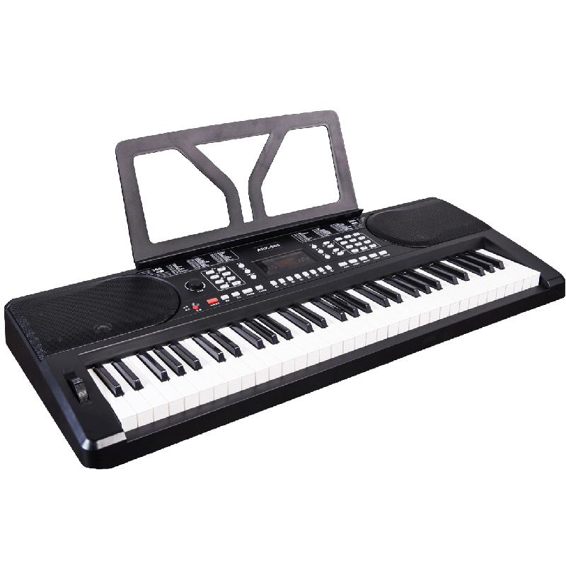 爱尔科电子琴儿童成人61键通用初学者仿钢琴键入门教学用琴608