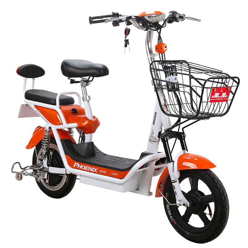 凤凰成人新国标电动自行车48V14寸迷你男女性电瓶车小型电单车