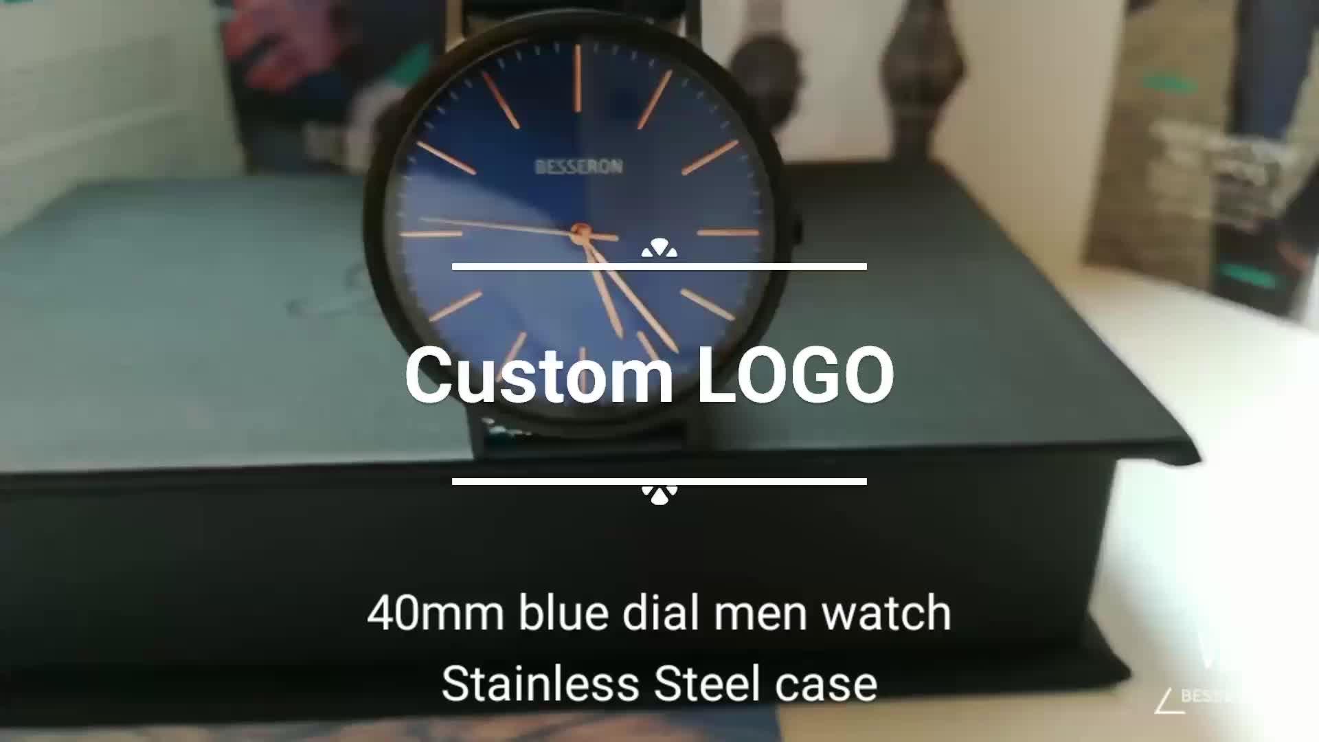 OEM reloj azul a granel marca de reloj de los hombres de oem del cuarzo de Japón potenciometro movt vertical de las mujeres reloj odm mi logotipo relojes de hombres