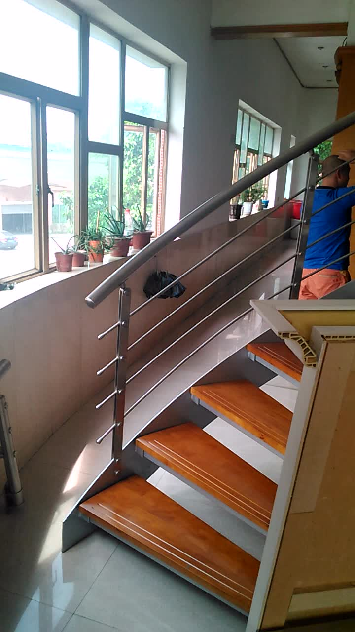 Steel Wood Pvc Handrail Prefabricated Outdoor Stairs Buy