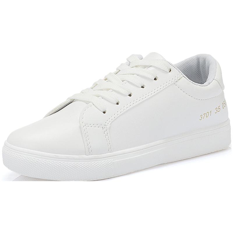 2018秋冬季新款韩版小白女鞋子百搭白鞋学生休闲平底运动加绒板鞋