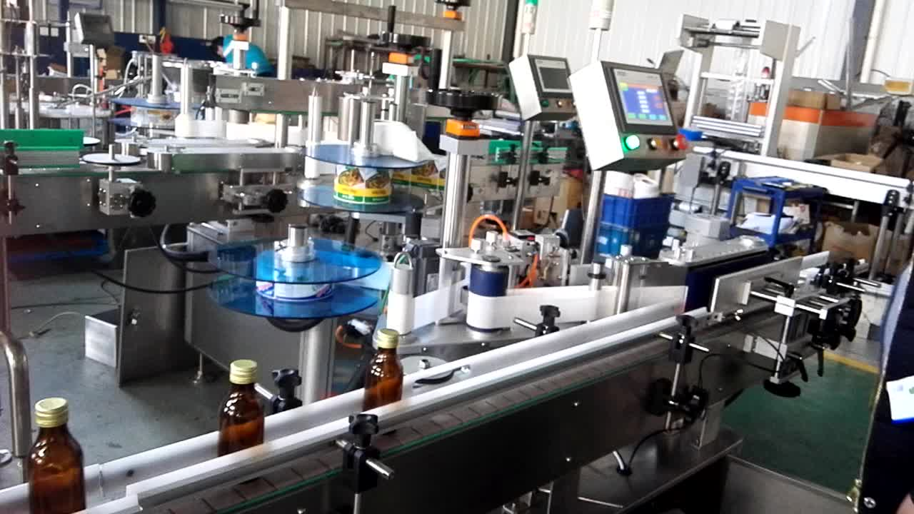 High Speed Cooking Oil Bottle Glass Vinegar Bottle Labeling Machine