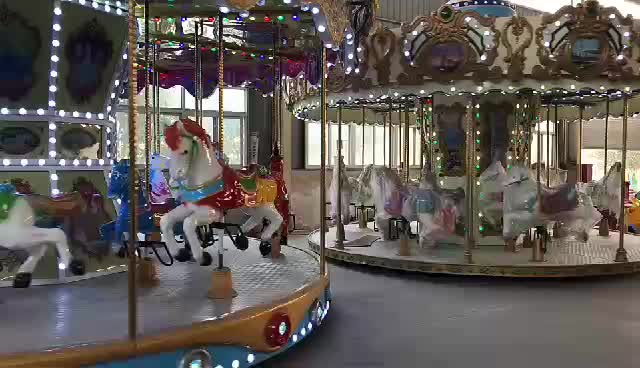 Amusement park mini merry-go-round carousel rides for sale