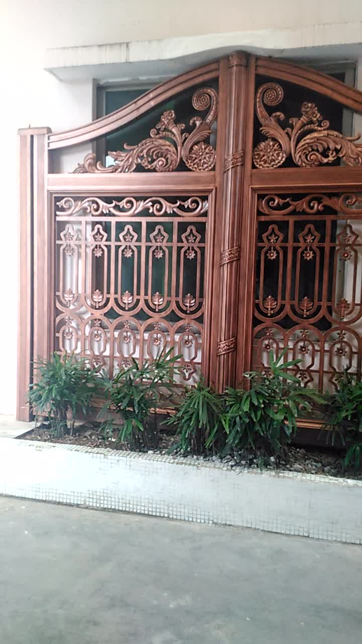 latest indian house main gate designs, new design wrought aluminum  sliding driveway main gate for house