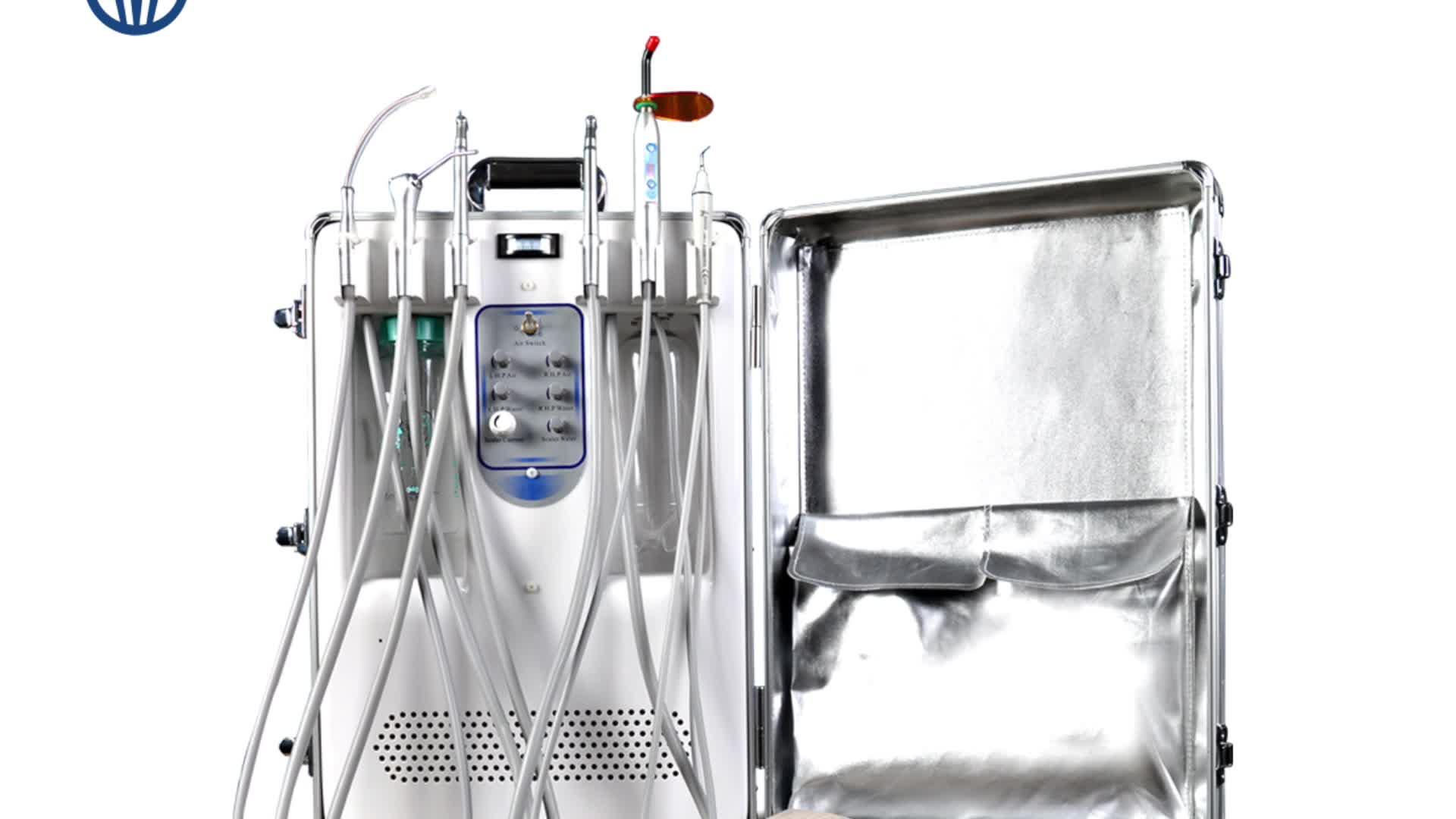 2018 Equipment Portable Dental Unit Mobile Price 550W Mini Suction Air Compressor Dental Chair