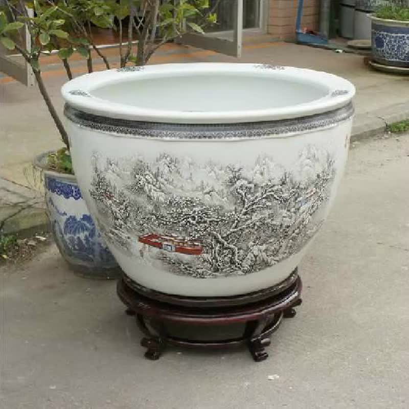 Where To Buy Ceramic Planters Part - 23: Retail Big Completely Weatherproof Porcelain Ceramic Fish Pot And Garden  Planter Pot
