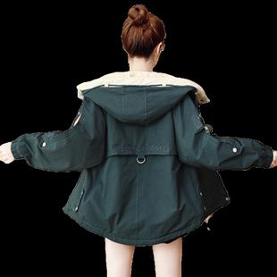 棉衣女裝2020新款冬季休閒學生寬鬆加絨小個子工裝派克棉服短外套