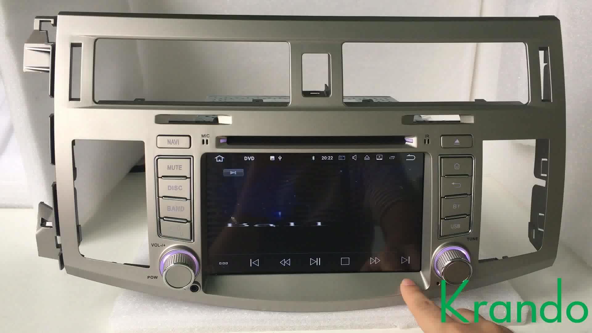 "Krando Android 7.1 7 ""araba pc navigasyon gps ile toyota avalon 2008-2010 için araba DVD OYNATICI TV radyo bluetooth ile KD-TA708"