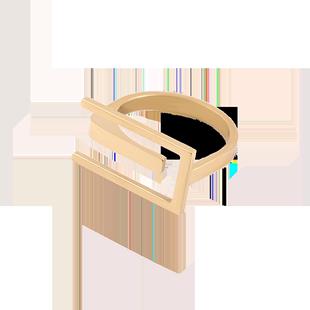 歐式個性小眾設計鈦鋼網紅女指環
