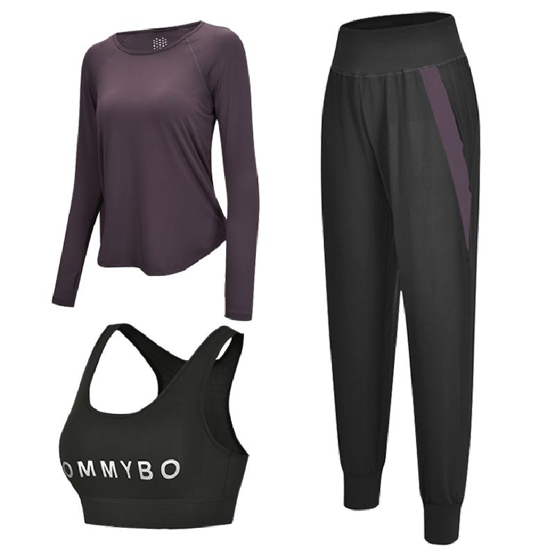 网红瑜伽服女夏季新款健身房运动套装宽松短袖显瘦跑步速干健身衣