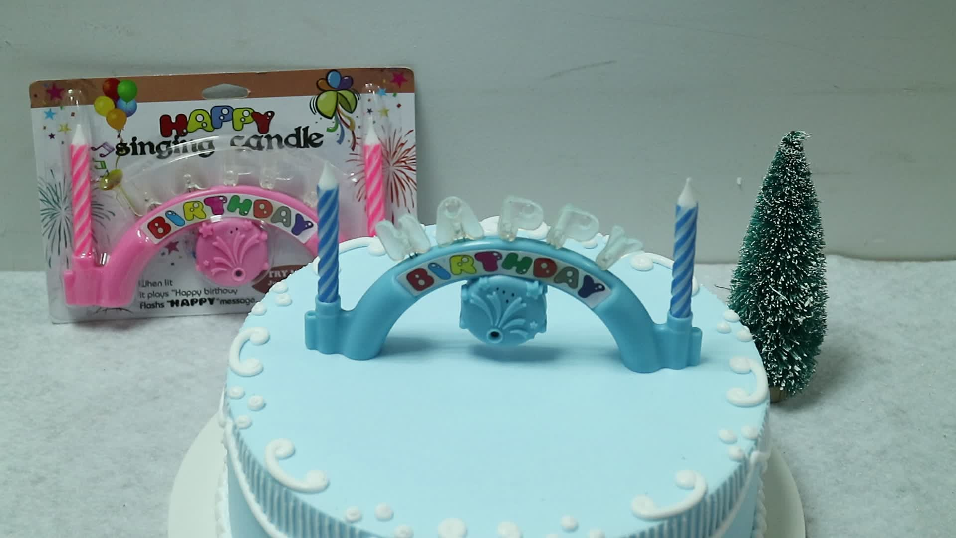 popular wholesale arch shape happy birthday singing music candle
