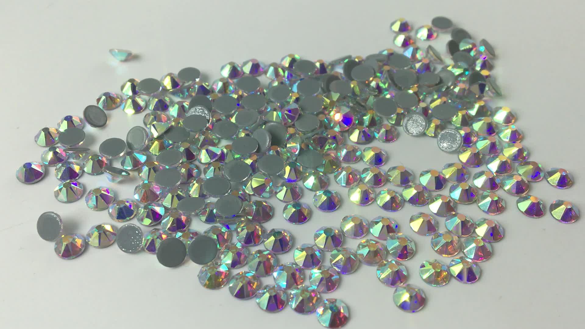 Fábrica de atacado 2088 alemão de cristal ab flatback strass cristal hotfix strass de vidro de cola adesiva para strass casamento