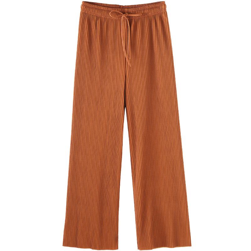 百褶阔腿裤高腰大码宽松垂感休闲裤质量好不好