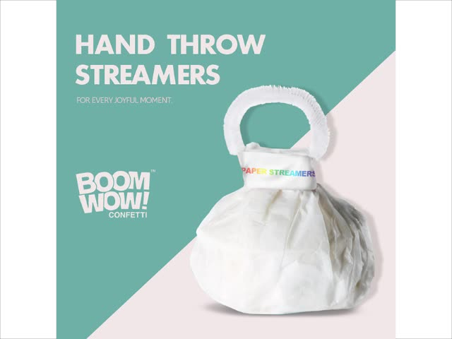New Product White paper hand throw streamers