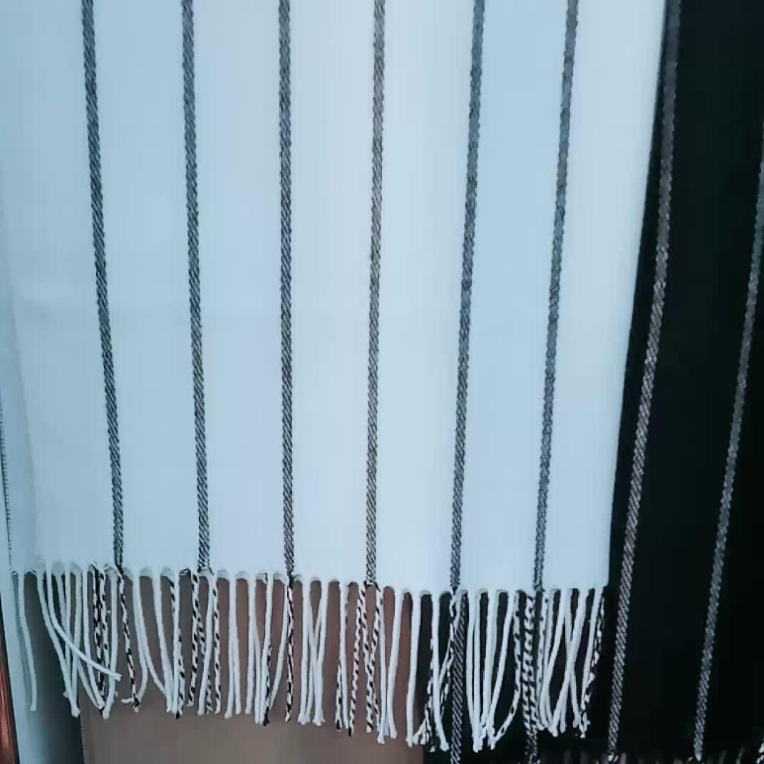 Lady Womens Mens Winter Blanket Cozy Stripes Pashmina Shawl Scarf