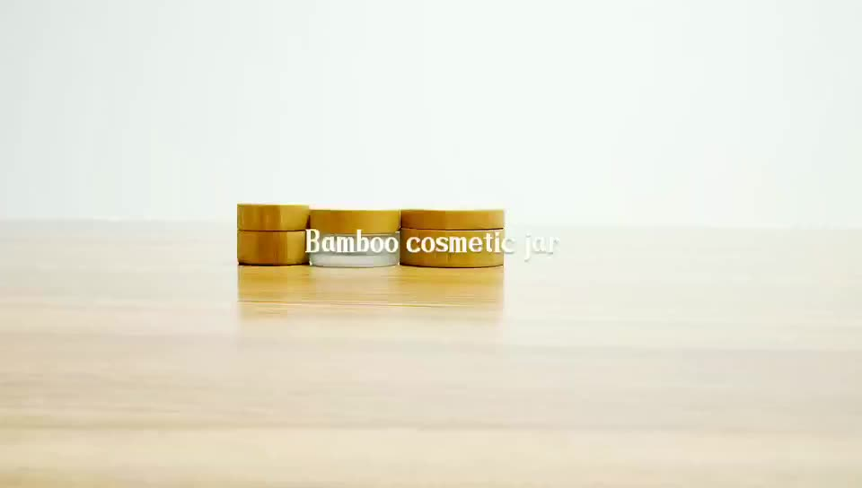 Natural cosmetic bamboo container 5g 15g 30g 50g 100g 150g aluminum inner cream jar with wooden cap