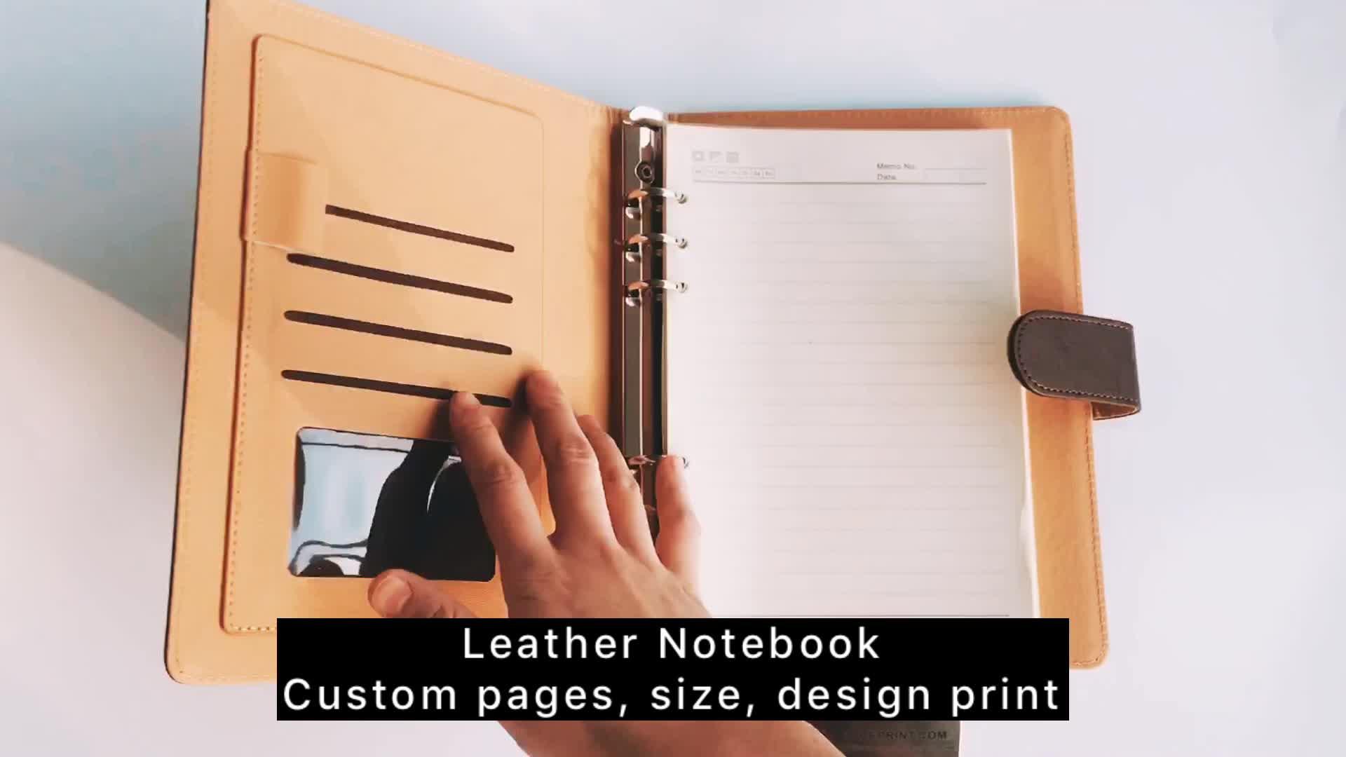 Certificazione FSC spirale notebook in pelle all'ingrosso prezzo a buon mercato con l'alta qualità