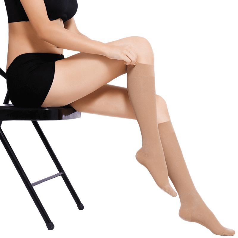 脉美静脉曲张弹力袜医疗型孕妇医用袜治疗型防血栓大码手术后进口