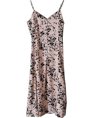 GOLUERJI 法式桔梗碎花连衣裙女夏2021新款 气质中长款显瘦吊带裙