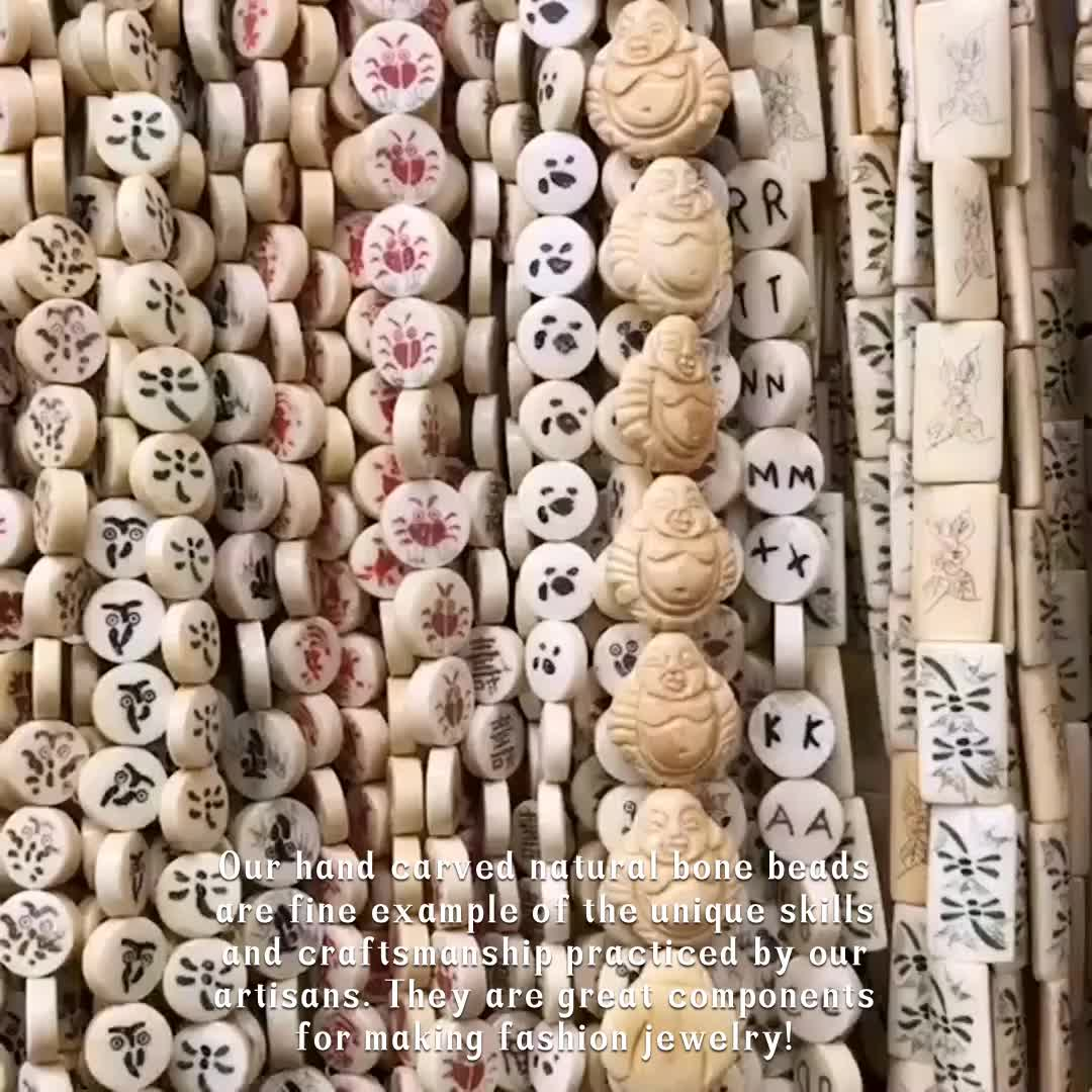 Chinese Natural Carved Beads Round White Bone Bead For Jewelry Making Buy Carved Beads Bone Carved Beads Natural Bone Carved Beads Product On Alibaba Com