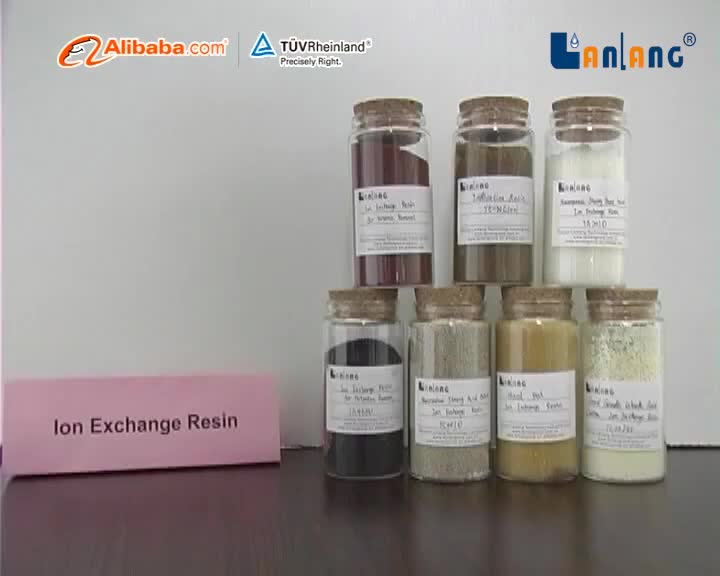 TC008B gel type strong acid Cation ion exchange Resin with black color