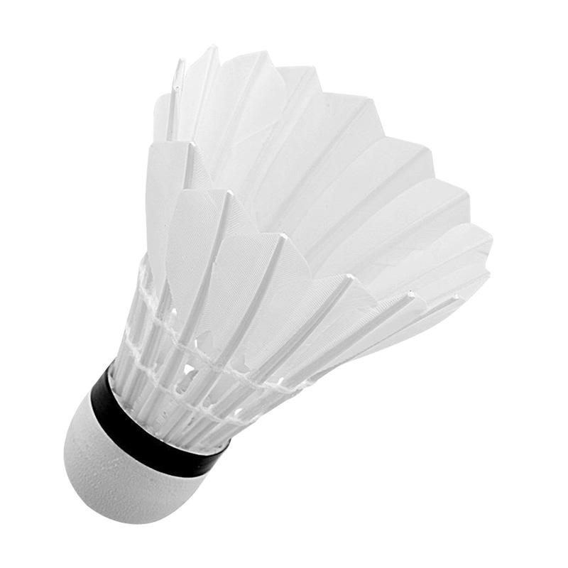 迪科斯羽毛球12只装耐打王正品不易打烂鹅毛室外比赛防风训练用球