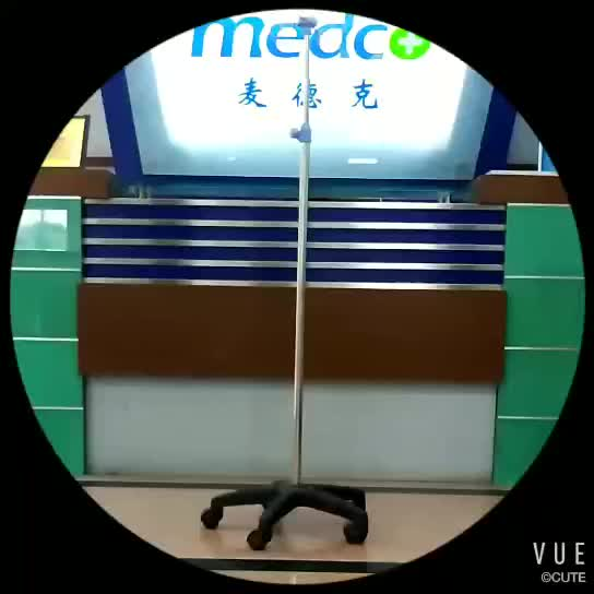 Hospital stainless steel IV drip stand A010