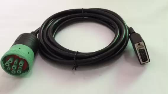 Type II J1939 green connector to DB15p cable