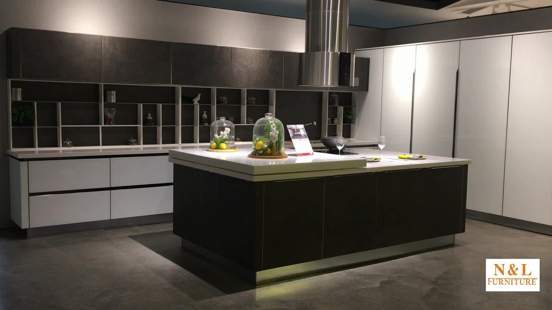 Azul Altavoces Cocina Moderna Combinación De Muebles Del Gabinete De Cocina  De Diseño De Europa Con La Mejor Calidad Y Precio Barato - Buy Mueble De ...