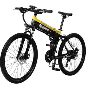 正步折叠山地车变速助力电动自行车